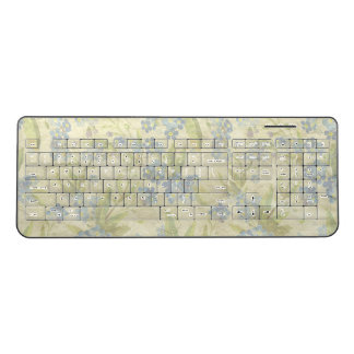 Cozy vintage floral textile Forget Me Not Wireless Keyboard