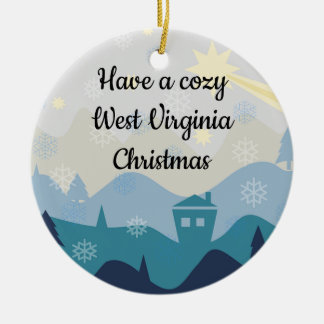 Cozy West Virginia Christmas Wishes Ornament