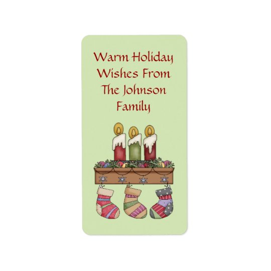 Cozy Wishes Holiday Gift Tags