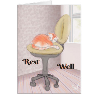 CozyCat - Rest Well Card