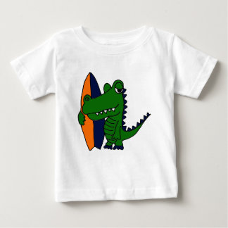 CP- Alligator Surfer Dude Baby T-Shirt