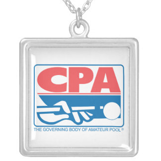 CPA Logo Silver Plated Necklace