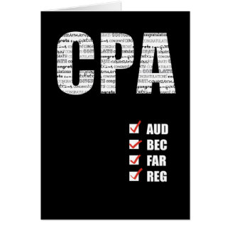 CPA Passing Test All Four Parts Card