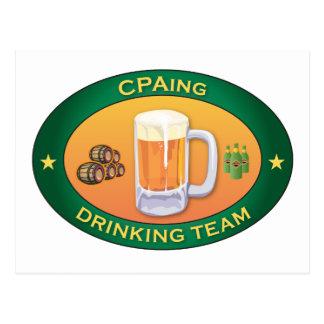 CPAing Drinking Team Postcard