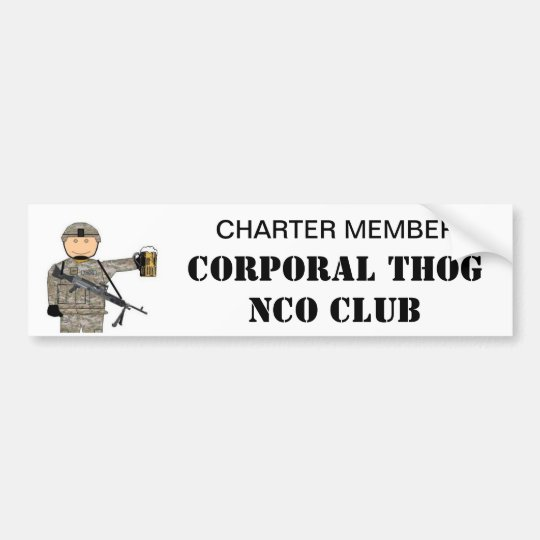 CPL THOG NCO CLUB BUMPER STICKER