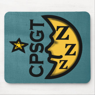 CPSGT SLEEP LAB SYMBOL by Slipperywindow Mouse Pad