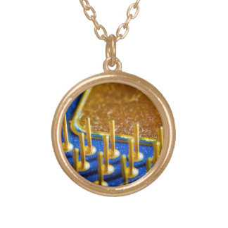 CPU Macro Gold Plated Necklace