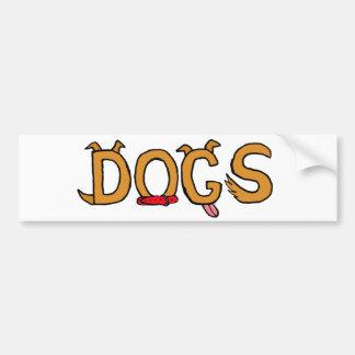 CQ- Funny Dogs Bumper Sticker