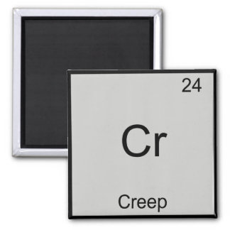 Cr - Creep Funny Chemistry Element Symbol Tee Square Magnet