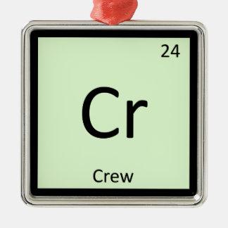 Cr - Crew Sports Chemistry Periodic Table Symbol Metal Ornament