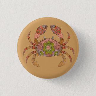 Crab 1 Inch Round Button