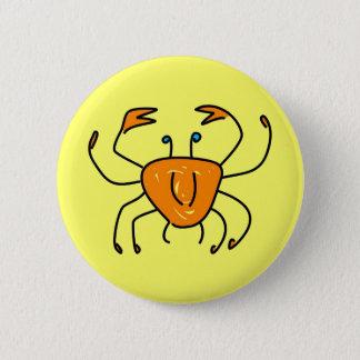 crab 2 inch round button