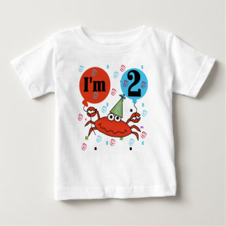 Crab 2nd Birthday Baby T-Shirt