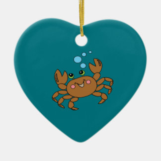 Crab 3 ceramic ornament