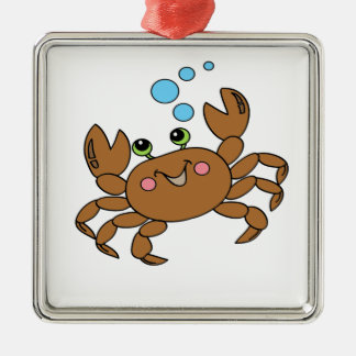 Crab 3 metal ornament