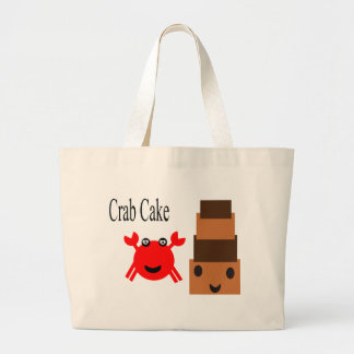 Crab and Cake Large Tote Bag