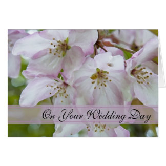 Crab Apple Blossoms Blended Family Wedding Card