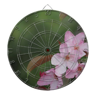 Crab Apple Pink Flowers Dart Board