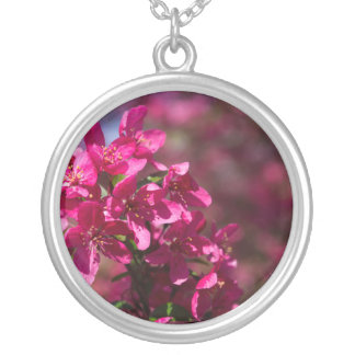 Crab Apple Shadows Silver Plated Necklace