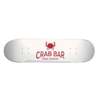 Crab Bar Fresh Seafood Logo Skateboard Deck
