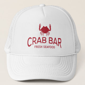 Crab Bar Fresh Seafood Logo Trucker Hat