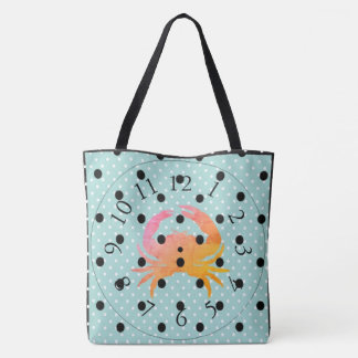 CRAB-BEACH-NO-TIME-TOTES TOTE BAG