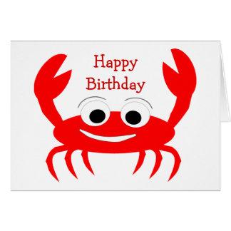 Crab Birthday Card