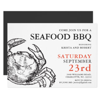 Crab Boil Seafood Party Custom Invitation