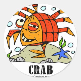 Crab by Lorenzo © 2018 Lorenzo Traverso Classic Round Sticker