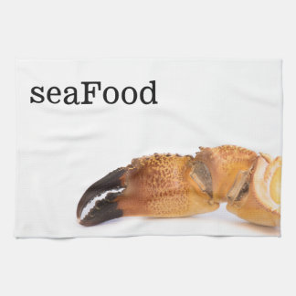 Crab claw kitchen towel