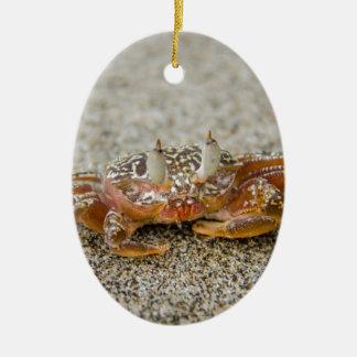 Crab claws ceramic ornament