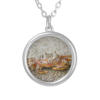Crab claws silver plated necklace