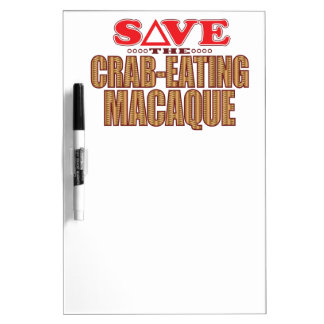 Crab-Eating Macaque Save Dry-Erase Board