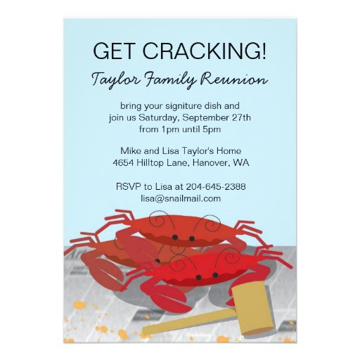 Crab Feast Party Invitation,