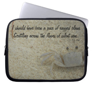 Crab in Sand at Beach Laptop Computer Sleeves