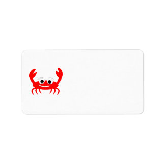 Crab Lover Address Label