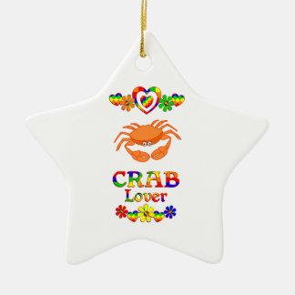 Crab Lover Ceramic Star Ornament