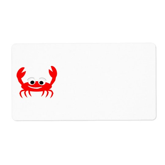 Crab Lover Shipping Label