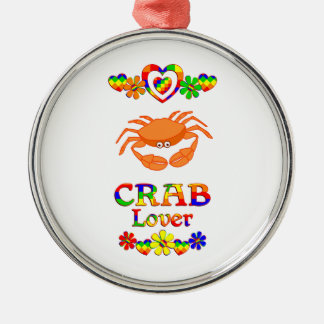 Crab Lover Silver-Colored Round Ornament