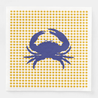Crab-Mod_Navy-Gold-Floral-NAPKIN-MULTI-CHOICE'S Disposable Napkin
