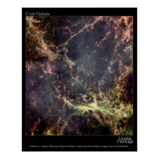 Crab Nebula Hubble Telescope Poster