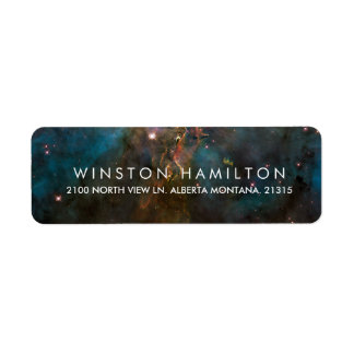 Crab Nebula | Personalized Return Address