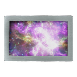 Crab Nebula Rectangular Belt Buckle