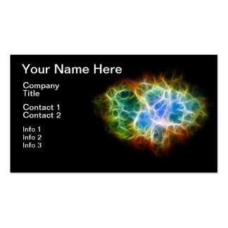 Crab Nebula Star Space Cloud Pack Of Standard Business Cards