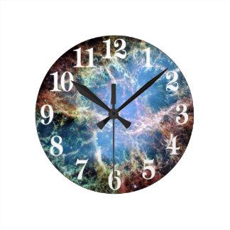 Crab Nebula Supernova NASA Round Clock
