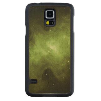Crab Nebula, Supernova Remnant, Green Light Carved Maple Galaxy S5 Case