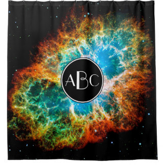 Crab Nebula Supernova Remnant with Custom Monogram