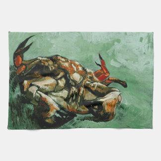 Crab on Its Back (F605)Van Gogh Fine Art Kitchen Towel