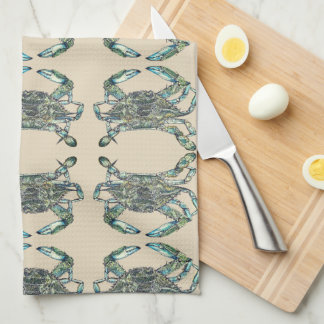 Crab Pattern Kitchen Towels