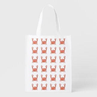 Crab Pattern Reusable Grocery Bag